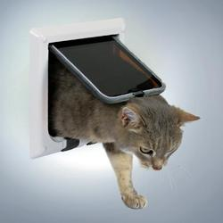 Trixie Дверца для кошки с четырьямя функциями ( 16,5см х 17,4см) белая , арт. 38621
