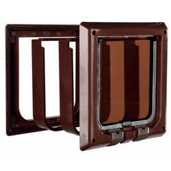 Trixie Дверца для кошки 4 позиции, с туннелем, коричневая, арт. 38643