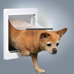 Trixie Дверца для кошек и собак, 2 функции, (20х21см), пластик, белый. , арт. 3877