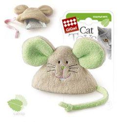 GiGwi Мышь с кошачьей мятой 8 см арт.75041