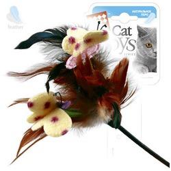 GiGwi Дразнилка с перьями на стеке