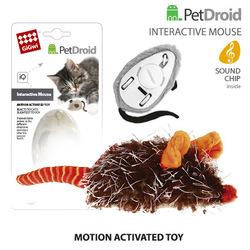 GiGwi Мышка со звуковым чипом электронная игрушка для кошек Pet Droid двигается при касании лапами 19 см арт.75359 арт.75315