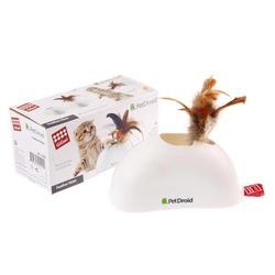 GiGwi электронная игрушка для кошек Pet Droid, Фезер Хайдер, датчики движения,звуковой чип, 15 см, арт.75311