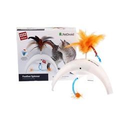 GiGwi электронная игрушка для кошек Pet Droid, Фезер Спиннер, датчики движения,звуковой чип, 18 см, арт.75312