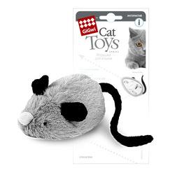 GiGwi Мышка со звуковым чипом Двигается при касании лапами, 19 см арт.75240