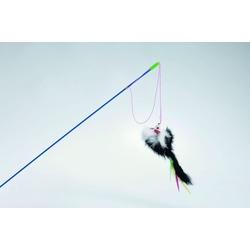IPTS Дразнилка удочка с меховой мышкой и перьями малая 46 см