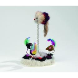 IPTS Мышки меховые на пружинке с кошачьей мятой 15х25 см