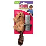 """Kong """"Бобер"""" игрушка для кошек с кошачьей мятой +баночка с мятой"""