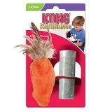 """Kong """"Морковь"""" игрушка для кошек с кошачьей мятой +баночка с мятой"""