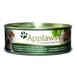 Applaws консервы для собак с курицей, говядиной, печенью и овощами, 156 гр