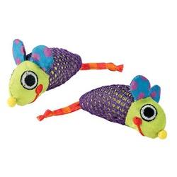 Pet Stages игрушки мышки с кошачьей мятой, 2 шт., 9 см