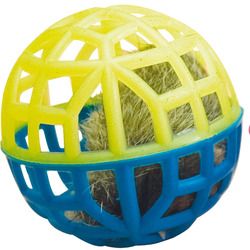"""Зооник Игрушка для кошки """"Погремушка"""", сетчатая, с мехом и колокольчиком"""