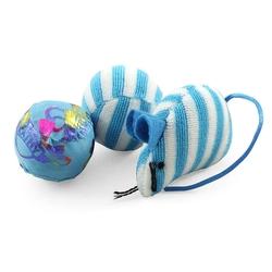 Триол Набор игрушек для кошек (2 мяча 50мм, мышь 70мм), арт. XW7003