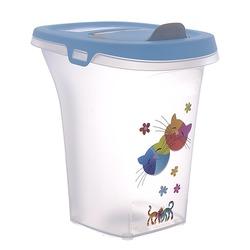 """Moderna контейнер для сухого корма Trendy Story """"Друзья навсегда"""", 6 литров, голубой"""