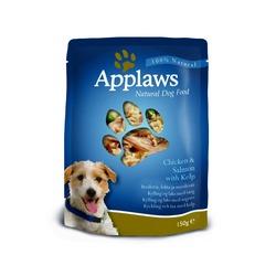 Applaws паучи для собак с курицей, лососем и овощным ассорти, 150 гр