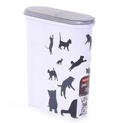 "Curver Контейнер для корма ""Кошка"", черно-белый на 1,5 кг"