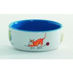 IPTS Миска фарфоровая для кошек с изображением играющих кошек