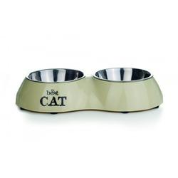 """IPTS Миска 2в1 для кошек двойная стальная """"Best Cat"""""""