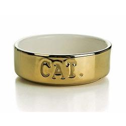 IPTS Миска керамическая для кошек золотая