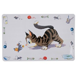 "Trixie коврик под миски ""Comic-Katze"" для кошек"