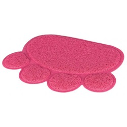 """Trixie Коврик под туалет в форме """"Лапы"""", ПВХ, 40 ? 30 см, розовый, арт.40387"""