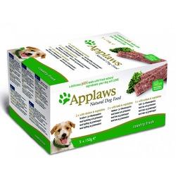 "Applaws набор паштетов для собак ""Курица, ягненок, лосось"": 5шт.x150г"