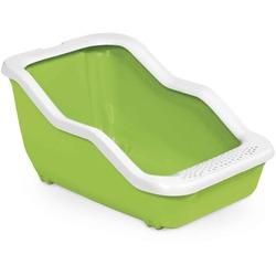 MPS туалет-лоток NETTA Open 54х39х29 см с рамкой, цвет салатовый