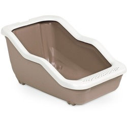 MPS туалет-лоток NETTA Open 54х39х29 см с рамкой, цвет коричневый