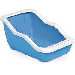 MPS туалет-лоток NETTA Open 54х39х29 см с рамкой, цвет голубой