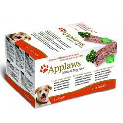 """Applaws набор паштетов для собак """"Индейка, говядина, океаническая рыба"""", 5шт.x150г"""