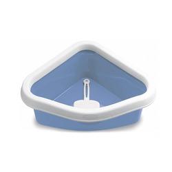Stefanplast Туалет угловой Sprint Corner, с рамкой и совочком, голубой
