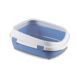 Stefanplast туалет-лоток с рамкой Queen, голубой