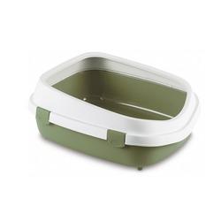 Stefanplast туалет-лоток с рамкой Queen, зеленый