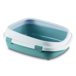 Stefanplast туалет-лоток с рамкой Queen, синий