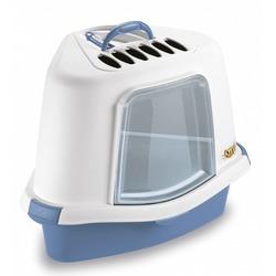 Stefanplast Туалет закрытый угловой Sprint Corner Plus, с угольным фильтром и совочком, голубой, 40x56x40 см