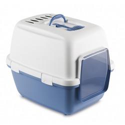 Stefanplast Туалет-домик Cathy Comfort с угольным фильтром и совочком, голубой, 58х45х48 см