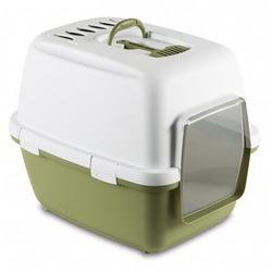 Stefanplast Туалет-домик Cathy Comfort с угольным фильтром и совочком, зеленый, 58х45х48 см