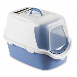 Stefanplast Туалет-домик Cathy Easy Clean с угольным фильтром, голубой, 56x40x40 см