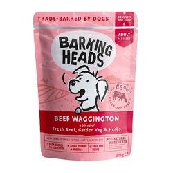 """Barking Heads паучи для собак с говядиной и бурым рисом """"Вуф-строганов"""", Beef Waggington, 300 гр."""