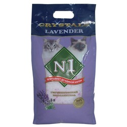 """№1 Силикагелевый наполнитель """"Лаванда""""(Crystals Lavender), 5 л"""
