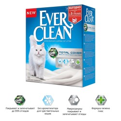 Ever Clean Total Cover наполнитель комкующийся микрогранулами двойного действия для кошек