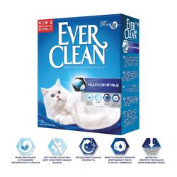 Ever Clean Multi Crystals Blend - наполнитель комкующийся для кошек с добавлением кристаллов для максимального контроля запаха, без ароматизатора