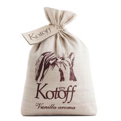 Kotoff Vanilla Gold наполнитель комкующийся, холщовый мешок, 5 кг