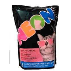 Neon Litter наполнитель силикагель, комкующийся, розовый 1,81 кг