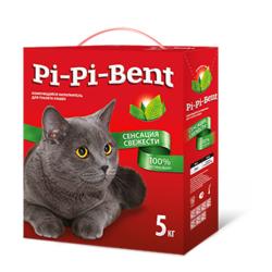Pi-Pi-Bent Сенсация свежести комкующийся наполнитель, 5 кг