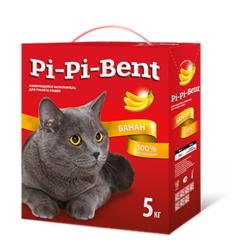 Pi-Pi-Bent Банан комкующийся наполнитель, 5 кг
