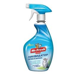 Mr.Fresh Expert 3в1 Ликвидатор пятен и запаха для кошек и хорьков, 500 мл (спрей)