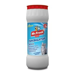 Mr.Fresh Expert 2в1 Ликвидатор запаха для кошачьих туалетов, 500 г (порошок)