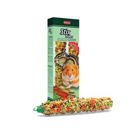 Padovan STIX FLAKES criceti палочки овощные для хомяков и бурундуков, 2 шт. х 100 гр.
