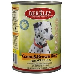 Berkley оленина с коричневым рисом, консервы для взрослых собак, 400 гр.